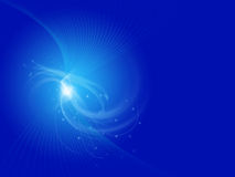 Blue abstract curves on blue background. Blue abstract curves and sparkles on blue background royalty free illustration