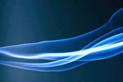 Blue Abstract Lines. Blue abstract curves lines light background stock photos