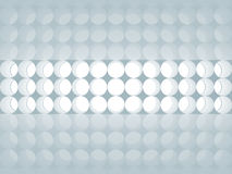 Blue abstract 3d background with round decor. Ation lights pattern on the wall Stock Image