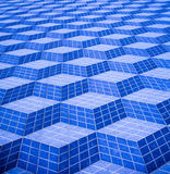 Blue Abstract 3D Street Pattern Stock Photo
