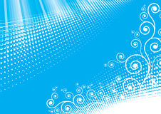 Blue abstract design Royalty Free Stock Photo