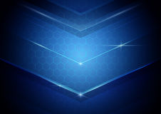 Blue abstract digital hi technology concept background. Space for your text Royalty Free Stock Photo