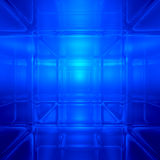 Blue abstract digital space background Stock Images