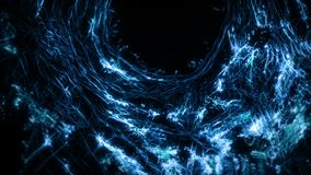 Blue abstract digital tunnel funnel artificial intelligence neural network loop