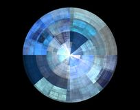 Blue abstract disc Stock Image