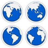 Blue abstract earth Stock Photos
