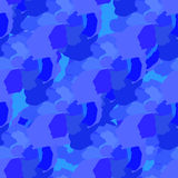 Blue abstract elements scattered over a  pattern. Blue abstract elements scattered over a seamless pattern Royalty Free Stock Photography