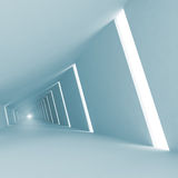 Blue abstract empty 3d interior background Royalty Free Stock Photography