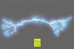 Blue abstract energy shock explosion special light effect with spark. Vector glow power lightning cluster. Electric. Discharge on transparent background. High Stock Photos
