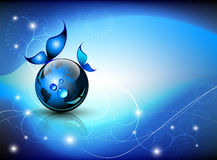 Blue abstract fantasy Royalty Free Stock Photo