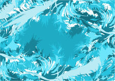 Blue abstract feathers Royalty Free Stock Image