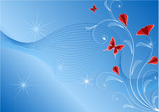 Blue abstract floral background Royalty Free Stock Image