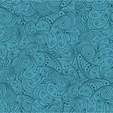 Blue abstract floral seamless pattern. Vector Royalty Free Stock Image