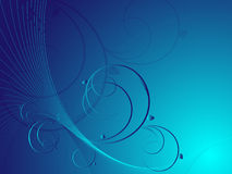 Blue Abstract Floral Vector Stock Image