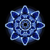 Blue abstract flower. Design element, abstract blue flower on black background royalty free illustration