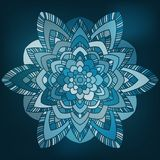 Blue abstract flower. Simple blue abstract flower in graphic style Royalty Free Illustration