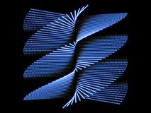 Blue abstract form and black background Royalty Free Stock Photography