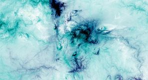 Blue abstract fractal background. Image Royalty Free Stock Photography