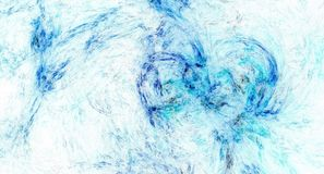 Blue abstract fractal background. Image Royalty Free Stock Image