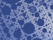 Blue abstract fractal background with a net and circle shaped holes. For technical, business, office, industrial projects, presentations, layouts, skins Stock Photography