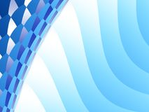 Blue abstract fractal background with waves and mosaic on the side. Resembling a swimming pool, modern building or a technical concept. For promotion Royalty Free Stock Photography