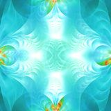 Blue abstract fractal wallpaper with different and many shapes. Abstract background with different forms and different colors for any purposes royalty free illustration
