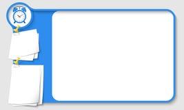Blue abstract frame Stock Photos