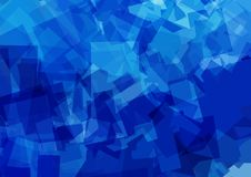 Blue abstract futuristic background. Vector pattern Stock Images