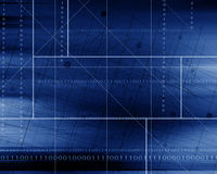 Blue Abstract Futuristic Background Royalty Free Stock Photos