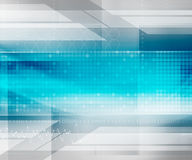 Blue Abstract Futuristic Background Stock Image