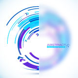 Blue abstract futuristic curve vector background Stock Image