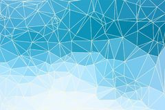 Abstract geometric background. Blue abstract geometric background consisting of colored triangles and light mesh Royalty Free Stock Image