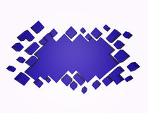 Blue Abstract geometric background from cubes. 3d render Royalty Free Stock Photography
