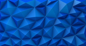 Blue abstract geometric background. 3D illustration Stock Photo