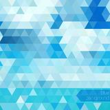 Blue abstract geometric background Royalty Free Stock Images