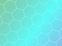 Blue abstract geometric background with hexagon shapes. Vector template brochure design Royalty Free Stock Photos
