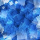 Blue abstract geometric background Stock Photos