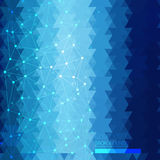 Blue Abstract Geometric Background Stock Image