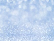 Blue abstract glitter background with bokeh. light bokeh holiday party background for Christmas and New Year Eve background Stock Photography