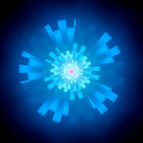 Blue abstract glowing shape in cyberspace Royalty Free Stock Photos