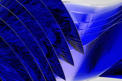 Blue abstract graphics Stock Images