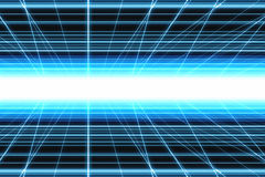 Blue abstract grid light. Digitally generated abstract image, blue grid with bright light in centre vector illustration