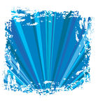 Blue abstract grunge square. A  blue abstract grunge square Royalty Free Stock Photos