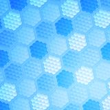 Blue abstract hexagonal texture background Stock Images