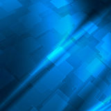 Blue abstract high tech background. Blue abstract background with cube pattern and vignette to high tech advertising or design Stock Image