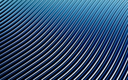 Blue abstract image of lines background. 3d render Royalty Free Stock Photography