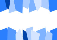 Blue Abstract Jagged Background Stock Photography