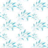 Blue abstract leaves seamless background. Vector illustration of blue abstract leaves seamless background Stock Images