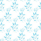 Blue abstract leaves seamless background Stock Images