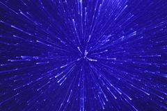 Blue abstract light explosion royalty free stock image